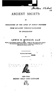 lewis henry morgan ancient society pdf