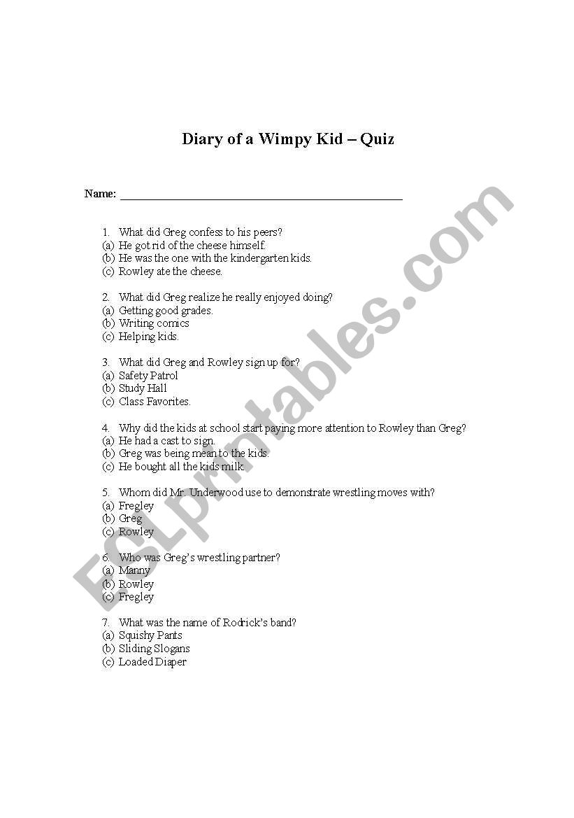 diary of a wimpy kid pdf download
