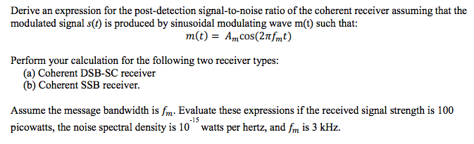 signal to noise ratio calculation pdf